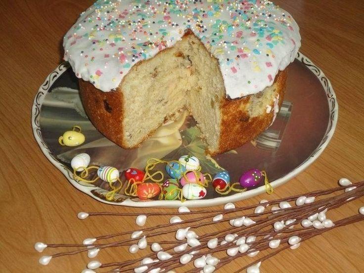 Пасхальный кулич  Ингредиенты:  для теста:  400 г муки 100 г сливочного масла 100 г сахара 1/2 стакана молока 2 яйца (1 белок оставим для глазури) 1 упаковка дрожжей 100 г изюма 1/2 ч.ложки соли  для глазури:  1яичный белок 200 г сахарной пудры посыпка — цветной сахар  + сливочное масло для смазывания формы  Способ приготовления:  1. Дрожжи растворить в 1/3 теплого молока  2. В оставшееся горячее молоко влить растопленное масло, добавить сахар, соль, перемешать и немного остудить  3. Всыпать…