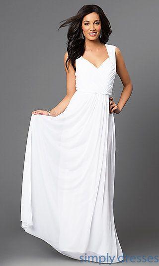 Best 25 floor length gown ideas on pinterest classy for Simply white wedding dresses