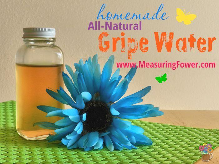 Homemade All-Natural Gripe Water--MeasuringFlower.com