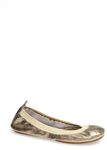 Yosi Samra Metallic Foldable Ballet Flat | Find the best for you  Brand: Yosi Samra Store: Nordstrom Availability: In Stock Price: $69.95