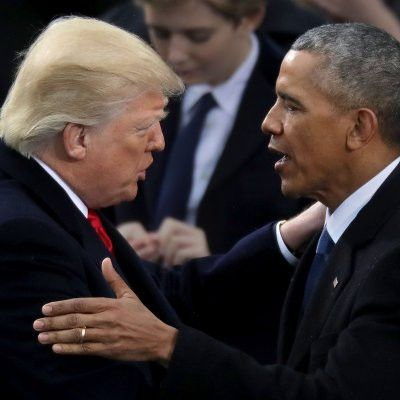 Obama Tweets About Hope in the New Year, Trump Bashes Enemies