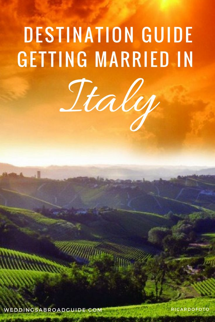 Italy Wedding Guide - Where to get married in Italy - an overview of the popular Italian destination wedding abroad locations - https://www.weddingsabroadguide.com/italy-wedding-locations.html