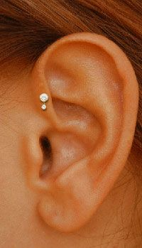 Ear head piercing