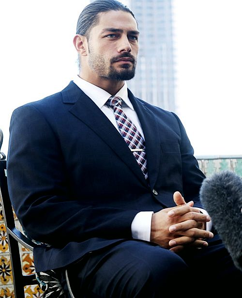 Roman looking all GQ...Damn!