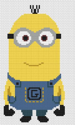 Kevin minion - Despicable Me pattern by Geek Stitch