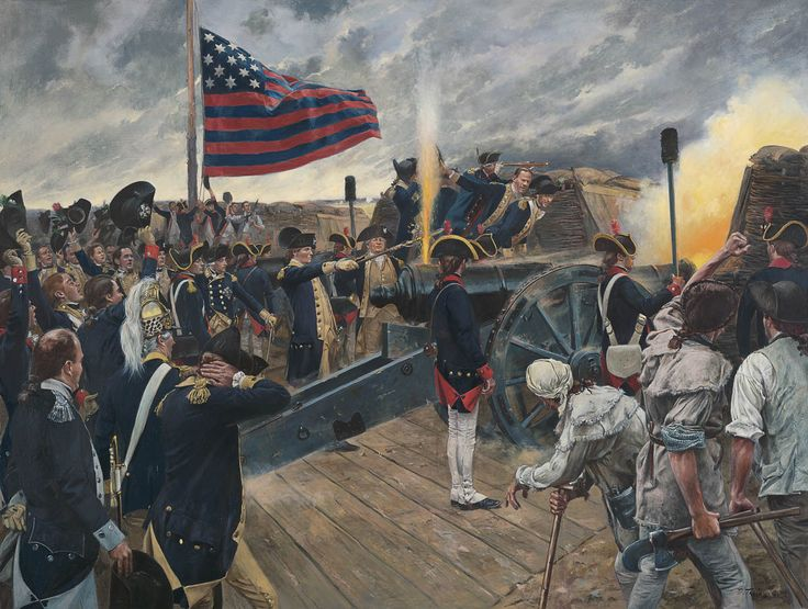 The Artillery of Independence  Siege of Yorktown, Virginia - October 9, 1781 George Washington firing the first American Artillery Round at Yorktown $225.00  www.blog.delawarerivergallery.com