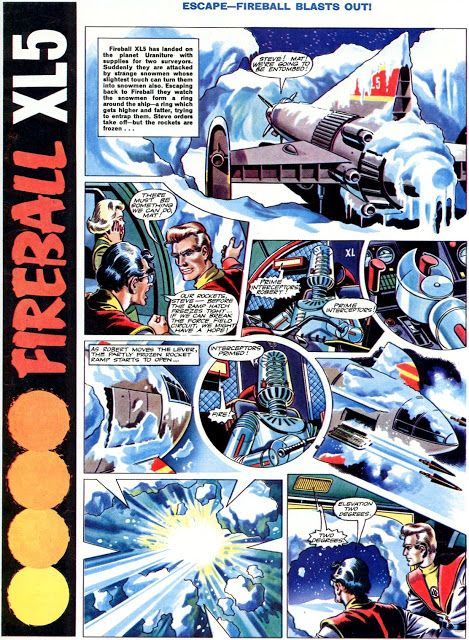 Fireball XL5 art by Mike Noble