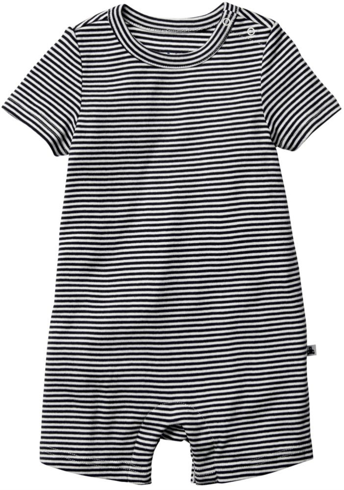 19f52a51c5cb New Baby Gap Factory Baby Boy Navy and White Striped Romper 3-6 ...