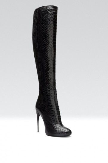 Gucci Black Stiletto Heel Knee High Boots Fall Winter 2013 #Shoes #Heels