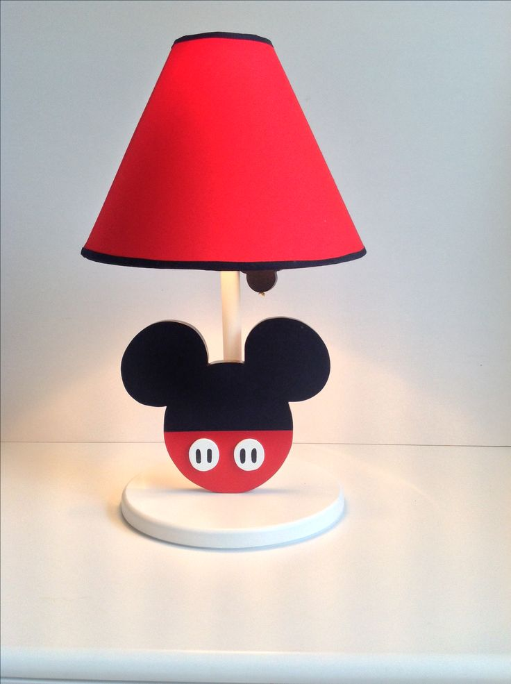 Mickey Mouse Disney table lamp handmade by Under Ten CR undertendeco@gmail.com