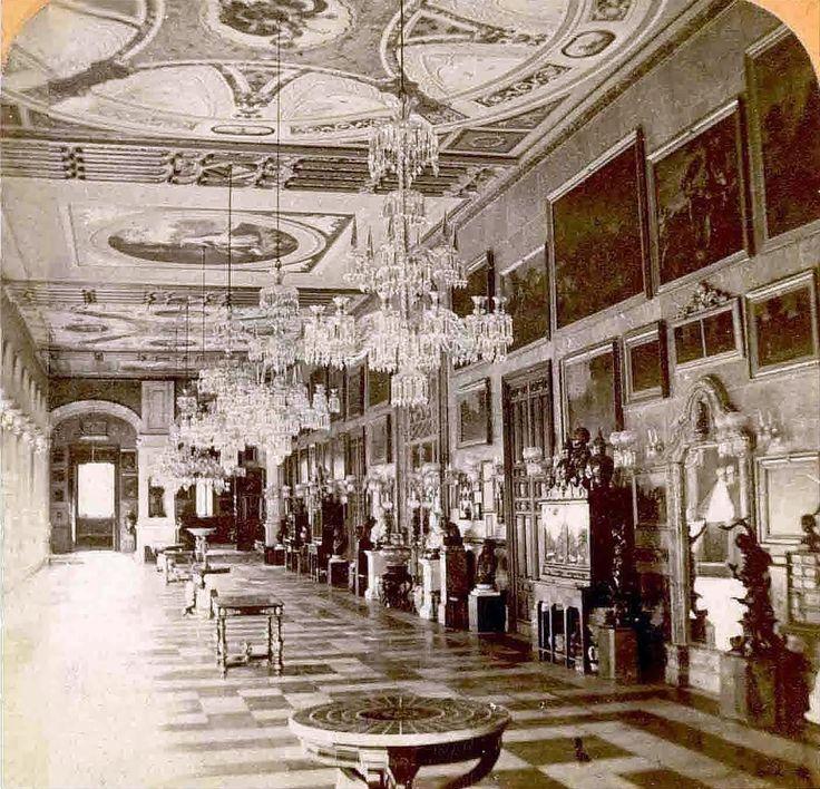 Interior del palacio de San Telmo, residencia de los duques de Montpensier, hacia 1860