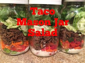 Fresh Mama Fitness and Health: Mason Jar Taco Salad {21 Day Fix Approved}