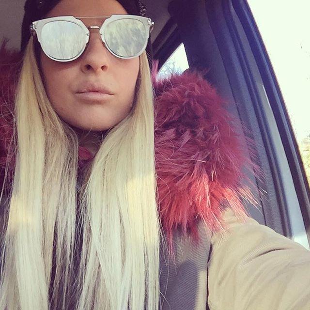 ITALOGY LIFE parka gipsy ecofur, bordeaux, musthave, sunglasses