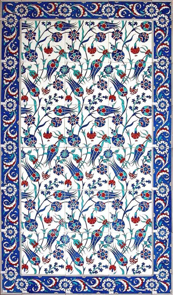 Mosaico Fondo Art In 2019 Tile Art Tiles Turkish Pattern