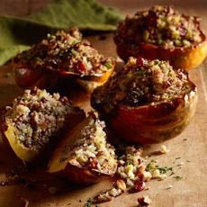 Roasted Acorn Squash with Quinoa and Red Rice Stuffing Recipe