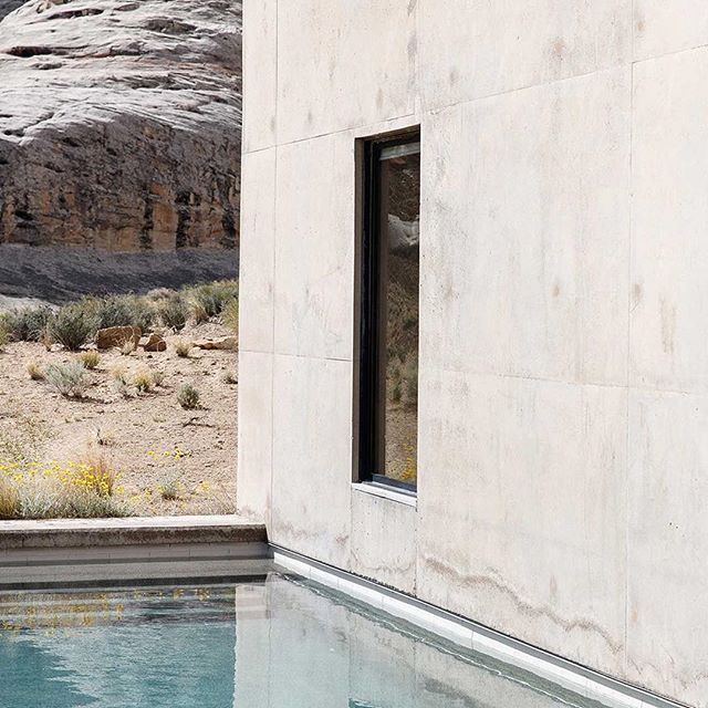 """""""Set within 240 ha of wilderness on the invisible border between Utah and Arizona, there is a profound sense of the American Southwest here."""" - from Cereal Volume 12. Read the full article at: readcereal.com/amangiri"""