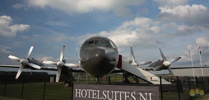 the hotel is on the plane in the Netherlands