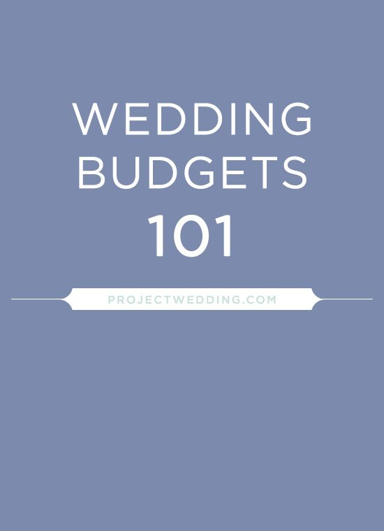 Two real budgets for reference from real brides