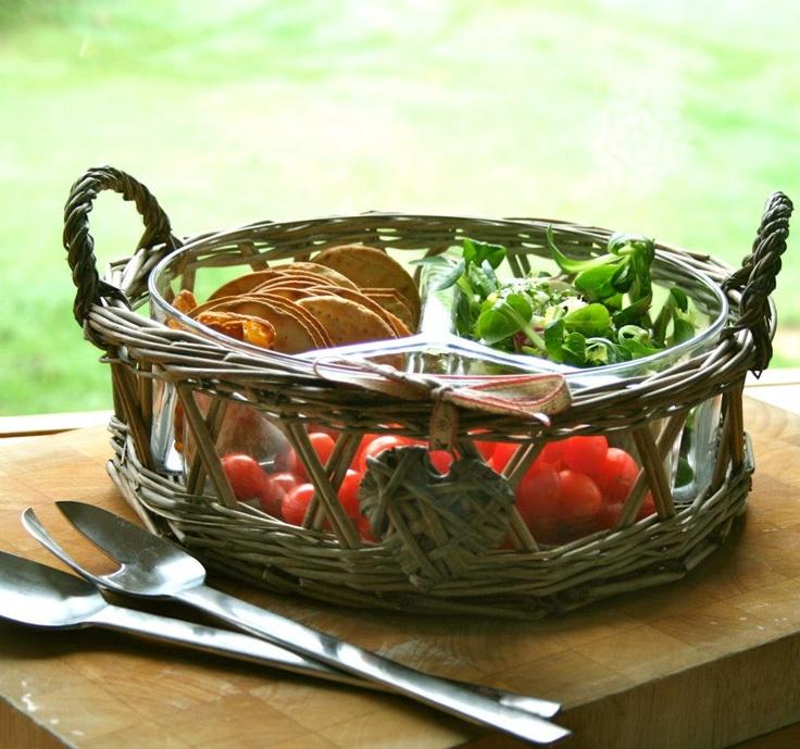 Divided appetizer wicker basket wicker baskets basket