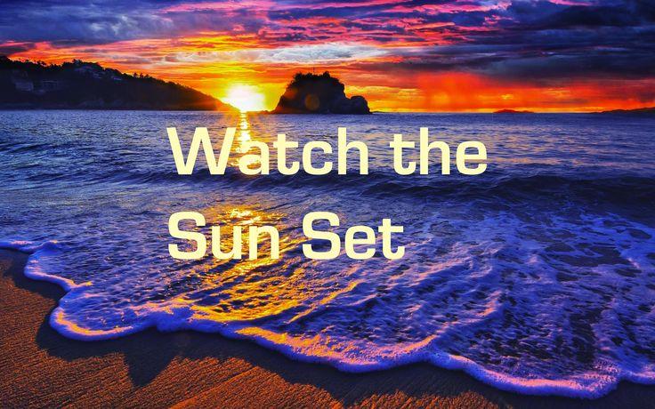 voir un coucher de soleil