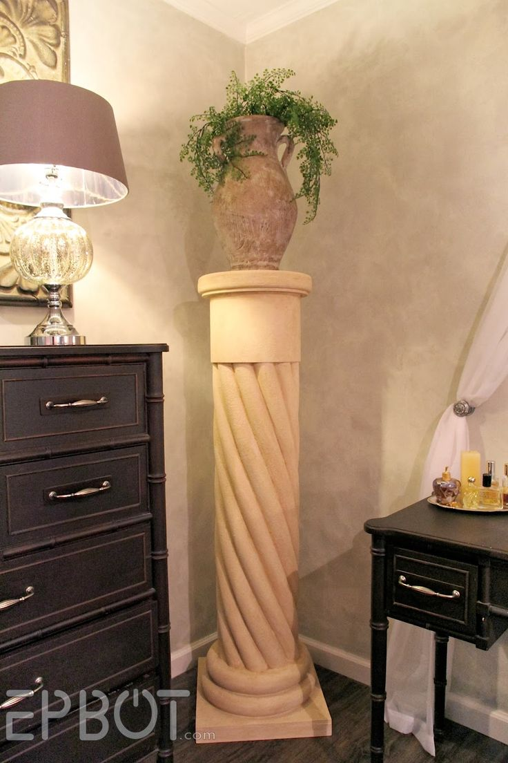 """EPBOT: Make Your Own """"Stone"""" Decorative Column... With Pool Noodles! (Seriously, these two people are BRILLIANT!)"""
