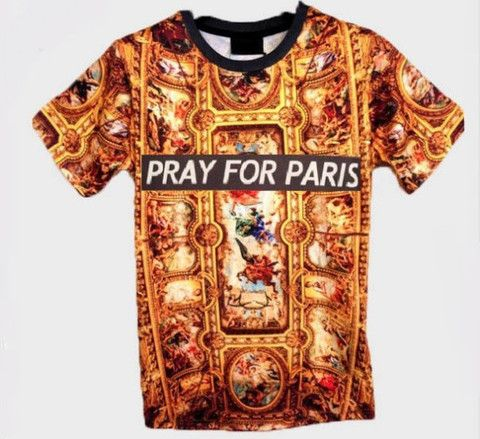 Golden Pray For Paris Shirt