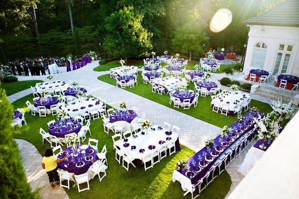 Purple Outdoor Wedding with Gold Wedding Dress by Chelsea Patricia Photography: Jenarda and Rudy - Munaluchi Bridal Magazine