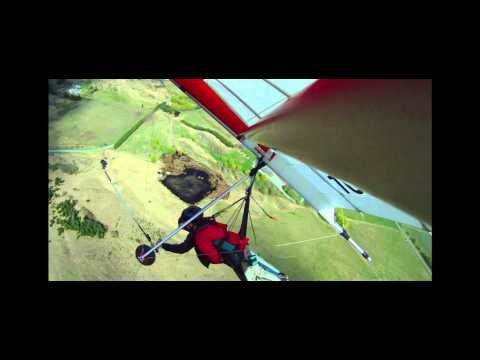 Awesome hang gliding in Queenstown, New Zealand