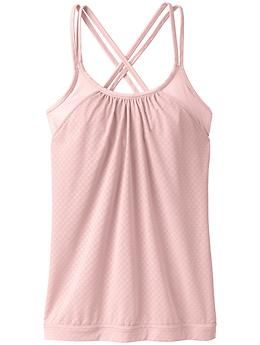 Hidden Agenda Tank - Two layers team up to give you great inner support plus a flattering, airy outer layer, all in a sweet strappy back design.