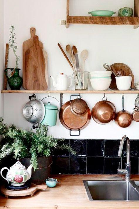 Creatief, uniek, opbergsysteem voor in de keuken.