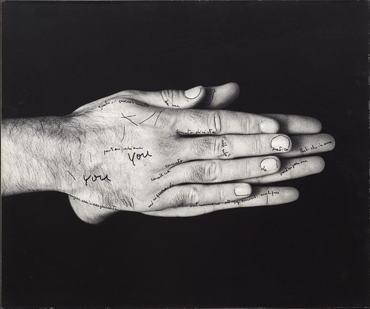 Ketty La Rocca Le mie parole e tu? (My Words and You ?), 1971 drawing on photo 50 x 60 cm