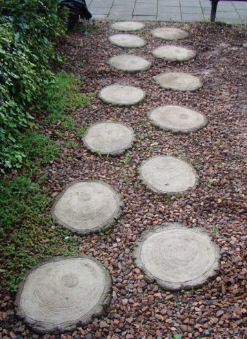 Stepping Stones Made From Wood Slices Dermart Unity In Ding Garden