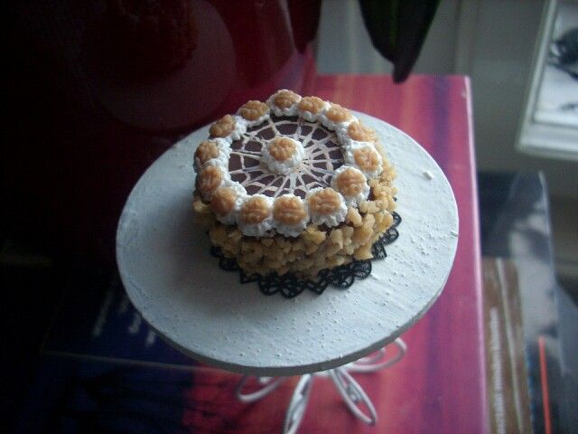 Miniature walnut cake:)