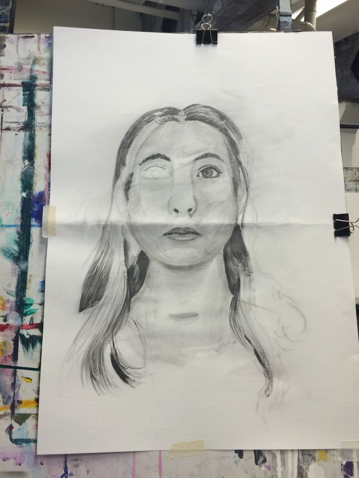 Adding graphite into the portrait