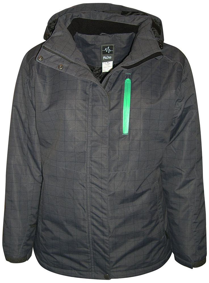 Pulse Plus Size Extended Women's Insulated Snow Jacket Mt. Shasta *** Click image for more details.