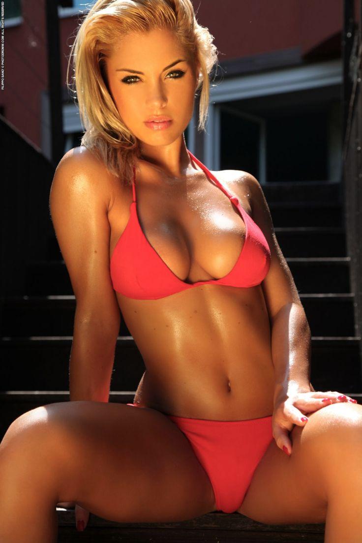 babe bikini red