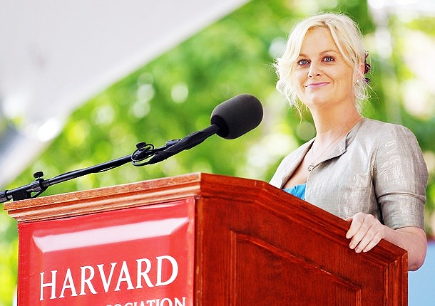 """""""This is what I want to say: When you feel scared, hold someone's hand and look into their eyes. And when you feel brave, do the same thing. You are all here because you are smart and you are brave. And if you add kindness and the ability to change a tire, you almost make up the perfect person."""" -Amy Poehler: Harvard Class Day 2011: Feeling Scared, Girls, Add Kindness, Abilities, Changing, Amy Poehler, Funnies, Feeling Braves, Eyes"""