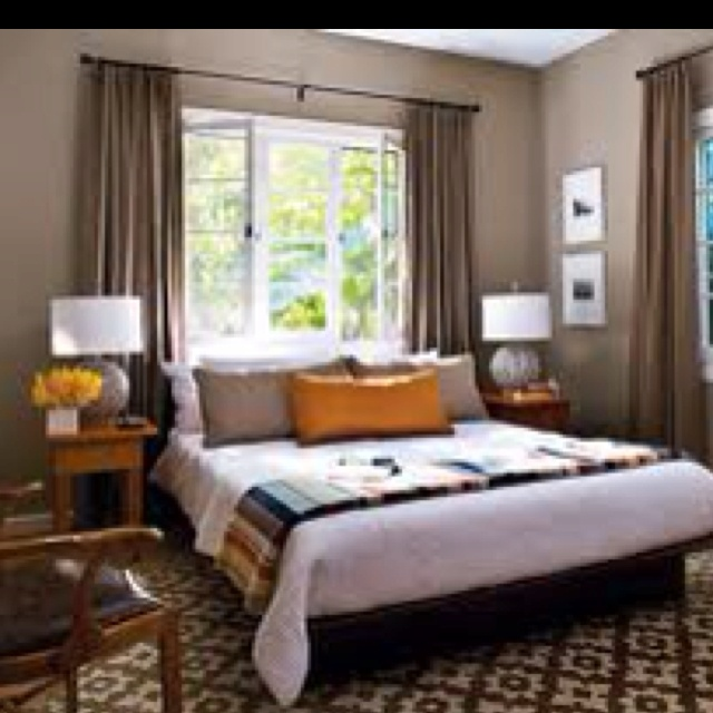 1000 Images About Beds In Front Of Windows On Pinterest Master Bedrooms The Wall And Wall Colors