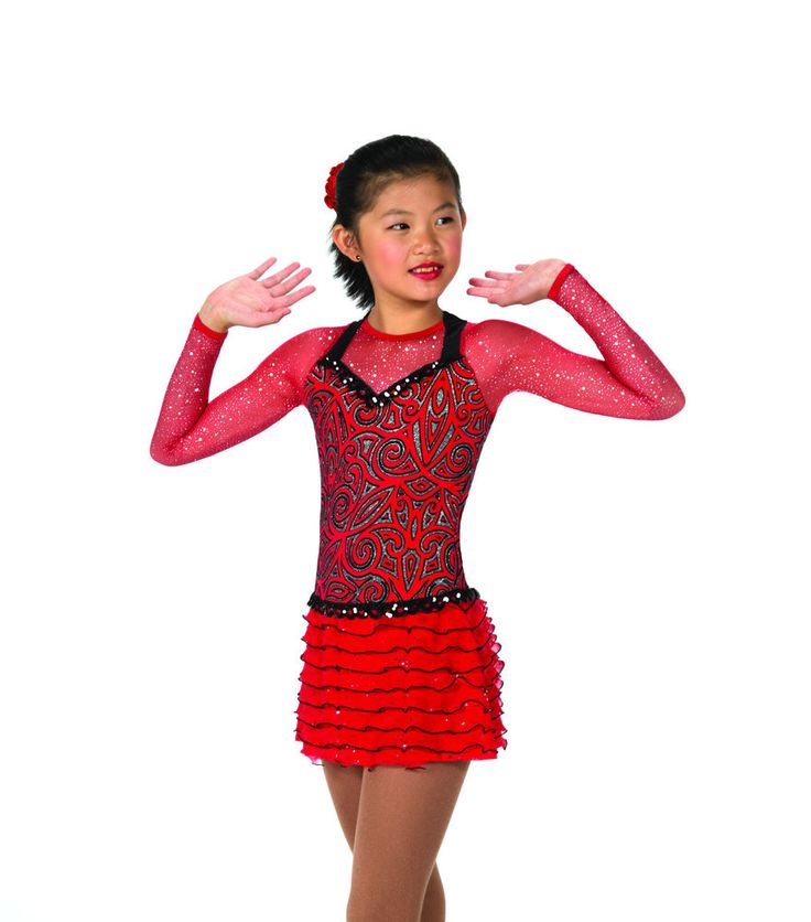 New Jerrys Competition Skating Dress 49 Razzy Red Made on Order | eBay
