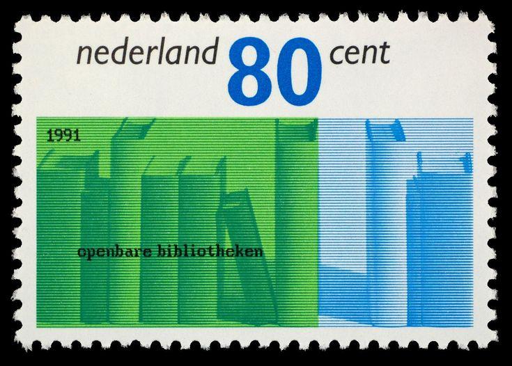 Gerard Wernars, Postzegel Nederland 1991, Bibliotheekwerk, Bibliotheekboeken