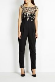 Little Mistress Black Embellished Bodice Jumpsuit