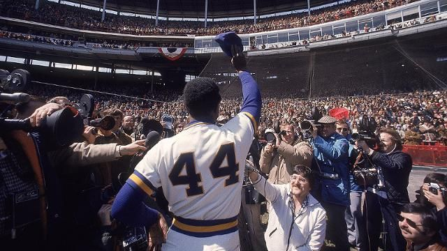 Milwaukee Brewers Bedroom In A Box Major League Baseball: Hank Aaron Celebrating A Victory At County Stadium