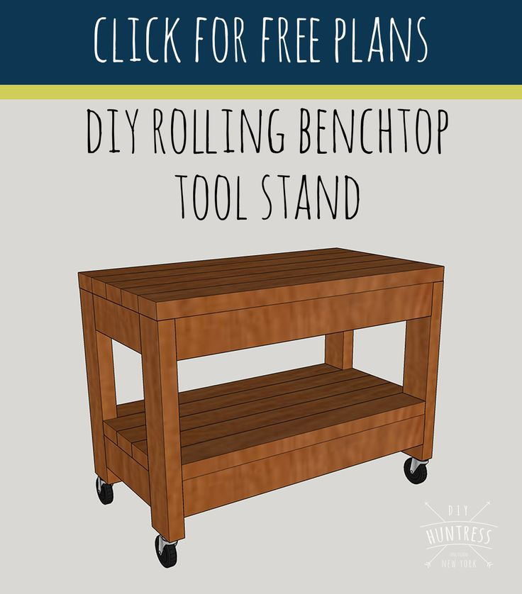 Fancy diy rolling tool stand diy huntress plans
