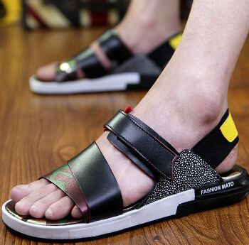 Summer male breathable sandals y3 Camouflage gladiator the trend of outdoor casual slippers