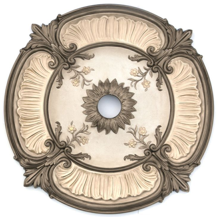 You can find the raw medallion here, you can become your own artist. http://www.buycrownmolding.com/index.php/ceilings-walls/ceiling-medallion-size/18-to-32-ceiling-medallions/30-1-8-od-attica-acanthus-leaf-ceiling-medallion.html