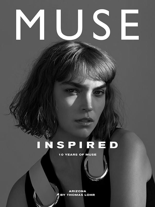 Muse Magazine Spring 2015 Cover; Photographers: Andreas Larsson, Jason Lloyd-Evans, Thomas Lohr; Fashion Editor/Stylist: Beth Fenton; Model: Arizona Muse