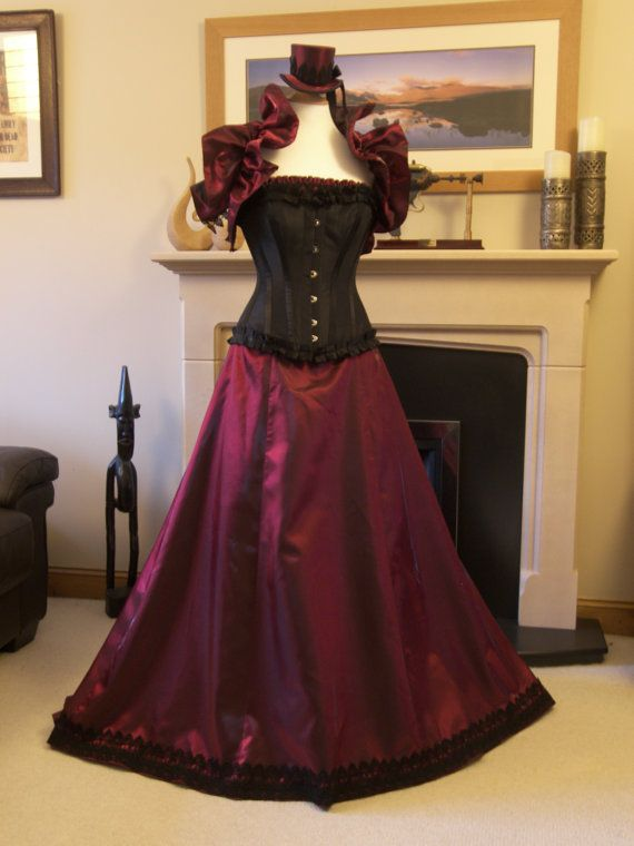 Steampunk Ball Gown  Victorian Steampunk ball gown or wedding dress Gown steel boned   I