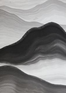 Zhang Zhaohui  After Rain, Ink on rice paper, 90 x 66 cm, 2012