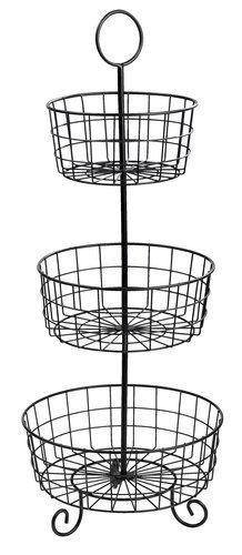 Poschodový košík LAVRITS 3 poschodia kov | JYSK