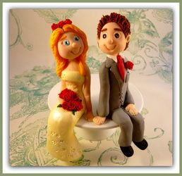 Handmade Bespoke Wedding Cake Toppers - TwinkleBalls